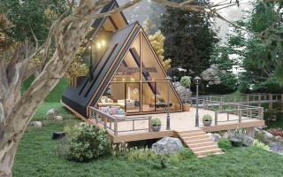 Треугольные каркасные дома